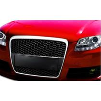 Parrilla De Malla Color Negro Audi A4 2005 - 2008 Nueva!!!