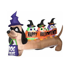 Inflable Halloween Decoracion Perro Fantasma Brujas Dracula