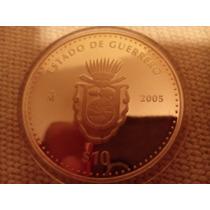 Moneda Escasa De Estados Guerrero Onza Plata 100 Pesos