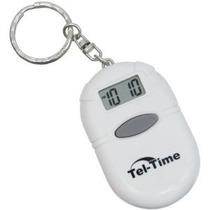 Tel Tiempo Oval Alarma Hablar Reloj Llavero Blanco