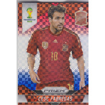 2014 Prizm Blue Red White Cesc Fabregas Spain