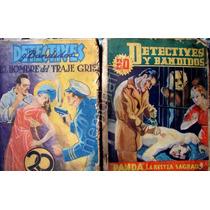 Revista Antigua Detectives Y Bandidos Lote De 9 1939 Zxc
