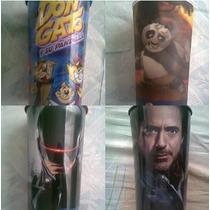 Vasos De Cine Robocop Los Pitufos Iron Man Kun Fu Panda