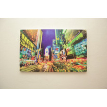 Cuadro Canvas Nyc Nueva York Colores Luces 80 X 50 Cm