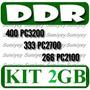 Envio Gratis Kit 2 Memorias Ddr 1gb Pc Pc2700/333 Pc3200/400