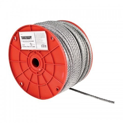 Cable de acero sin forro 1 4 x 75 m toolcraft 810 yp2xz for Cable de acero precio
