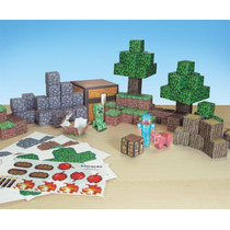 Tb Minecraft Papercraft Overworld Deluxe Set, Over 90 Pieces