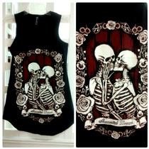 Blusa Vestido Playera Esqueleto Calavera Halloween Difraz
