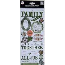 Scrapbook Embellecedores Stickers Alfabeto Album My Family