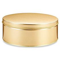 Caja Con 20 Latas Decorativas Para 1 Kilo 360 Gramos Dorado