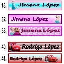 100 Etiquetas Con Nombre Marcar Ropa, Guarderia, Escuelas