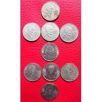 Lote De 9 Monedas 20 Centavos Madero Mexico 1974 A 1981