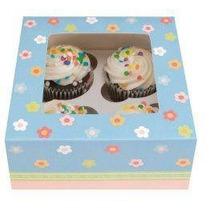 Cajas Decoradas Para 4 Cupcakes