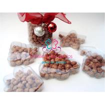 10 Caja Recuerdo Pino Navidad Estrella Acetato Sola