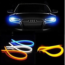 Faros Led Tipo Audi Tiras De Led 2 De 60cm Ve Video