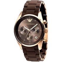 Reloj Emporio Armani Sport Acero Silicon Cafe Ar5891