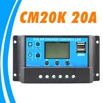 Controlador De Carga Solar 20a + Pantalla Lcd + Cargador Usb