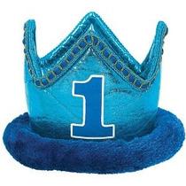 Plush Primero Cumpleaños Azul Corona