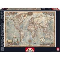 Rompecabezas Educa 1500 Piezas El Mundo Mapa Político 16005