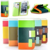 Funda Cartera Carcasa Iphone 4 Y 5 +regalo 10 De Mayo