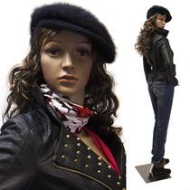 Maniqui Realista Vestido Exhibidor Mujer Ropa Modelo Hm4