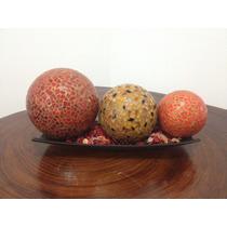 Esferas Decorativas De Vidrio / Cristal 100% Artesanal