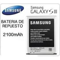 Bateria Pila Galaxy Samsung S3 I9300 100 Nueva 2100 Mah Slp