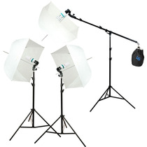 Kit Estudio Fotografico Softbox Sombrilla Boom Stand