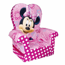 Silla Sofa Sillon Infantil Con Respaldo Alto Minnie Mouse