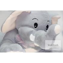Mamá Elefante Con Su Elefantito Peluche- Par- Grande Y Chico