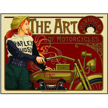 Lienzo Tela Arte De Harley Davidson Motocicleta 1917 90x115