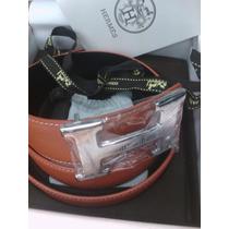 Precioso Cinturón Hermes Reversible Naranja