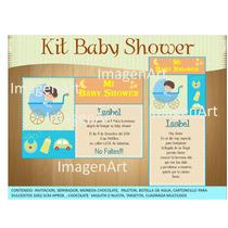Kit Para Imprimir De Baby Shower, Invitacion, Recuerditos,,,