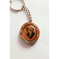 Llavero Airedale Terrier - Acero Inoxidable - Hermoso!