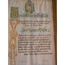 Antiguo Reconocimiento Gomez Palacio, Dgo Al Gobernador 1949