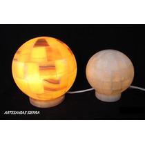 Lámpara De Onix Mod. Esfera De 15 Cms.