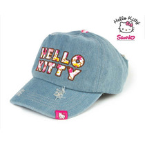 Gorra Hello Kitty Mezclilla Ajustable 100% Algodon Cachucha