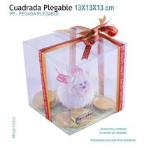 06 Cajas De Acetato 13x13x13 Cm Para Recuerdos,dulces