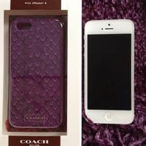 Coach Iphone 5 Case! Morado! Diseño Vivora! En Caja!!