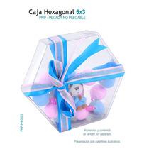 6 Cajas De Acetato En Forma Hexagono Para Eventos Y Fiestas