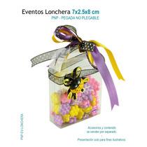 12 Cajas De Acetato En Forma De Lonchera,caja De Mica