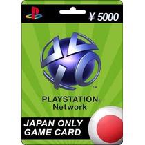 Tarjeta Gift Card Playstation Network Japon 5000 Yen Ps4 Ps3