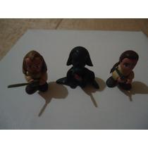 3 Figuras De Star Wars De Resina Epoxica