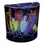Tb Pecera Glofish Half Moon Aquarium With Blue Led