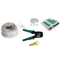 Cable Utp Cat5 100mts, Tester, Pinzas, Plugs Rj45