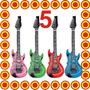 5 Guitarras Inflables Plastico Fiesta Boda Xv Dj Batucada