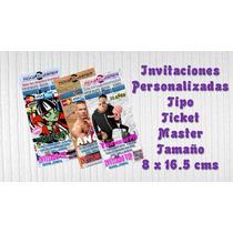 Diseño De Invitaciones Tipo Ticket Master