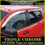 Deflectores Palomeras Cromo Toyota Tundra Crew Max 2007-2015