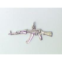 Dije Rifle Ak-47 Cuerno De Chivo Plata Ley 925