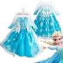 Disfraz Vestido Frozen Para Niña Halloween